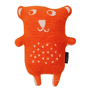 Organic Cotton Chenille Little Bear Orange
