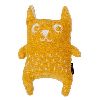 Organic Cotton Chenille Little Bear Yellow