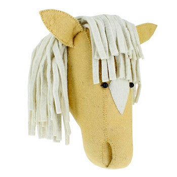 Palomino Horse Wall Mounted Animal Head