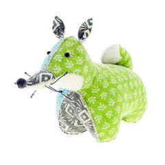 Patchwork Fox Boy Large Bookend/Door Stop