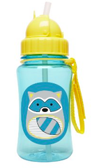 Zoo Straw Bottle Raccoon