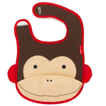 Zoo Tuck-Away Bib Monkey *Buy 1 Get 1 Free*
