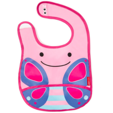 Zoo Tuck-Away Bib Butterfly