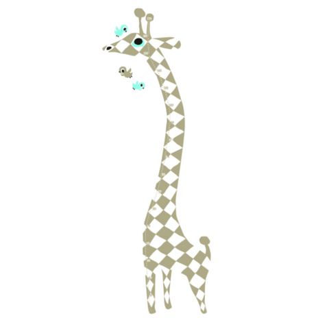 Harlekin Giraffe Measuring Wall Sticker