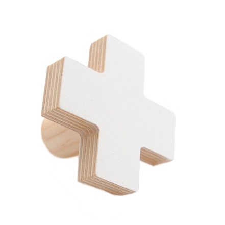 Cross Wall Hook - White