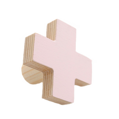 Cross Wall Hook - Pale Pink