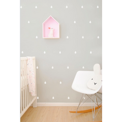 Wall Vinyl Stickers - White Raindrops