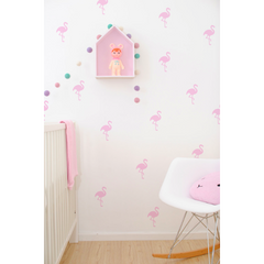Wall Vinyl Stickers - Pink Flamingos