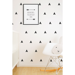 Wall Vinyl Stickers - Black Teepees