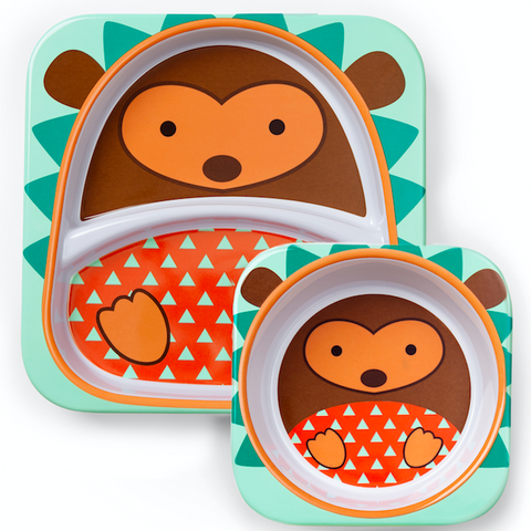Zoo Tabletop Melamine Set Hedgehog