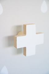Cross Wall Hook - Soft Mint