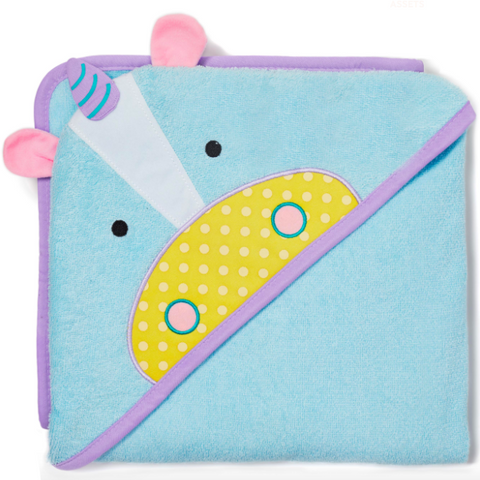 Zoo Hooded Towel Unicorn