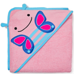 Zoo Hooded Towel Butterfly