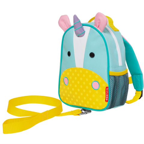 Zoo Safety Harness Mini Backpack with Rein Unicorn