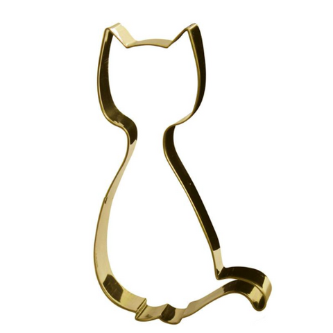 Cookie Cutter Cat Gold