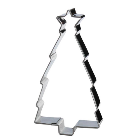 Cookie Cutter Christmas Tree Silver