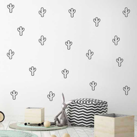 Wall Vinyl Stickers - Cactus