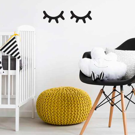 wall vinyl sticker - sleepy eyes – baby company