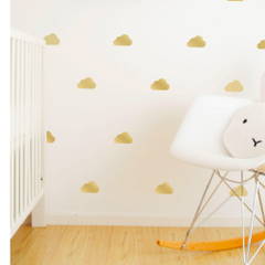 Wall Vinyl Stickers - Gold Cloud