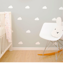 Wall Vinyl Stickers - White Cloud