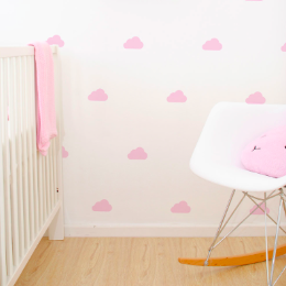 Wall Vinyl Stickers - Pale Pink Cloud