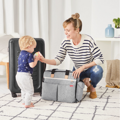 Duo- Weekender Diaper Bag- Grey