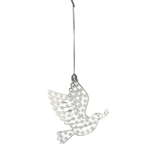 Silver Dove Decoration