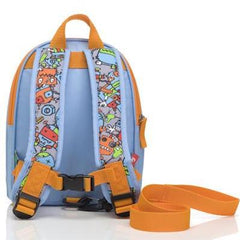 Robot Blue Mini Backpack with Reins