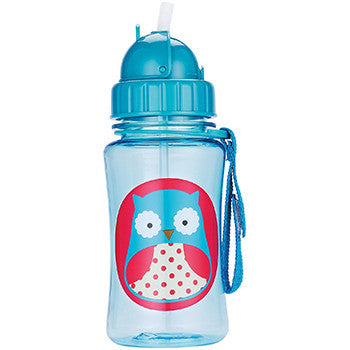 Zoo Straw Bottle Owl