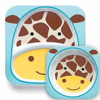 Zoo Tabletop Melamine Set Giraffe