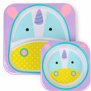 Zoo Tabletop Melamine Set Unicorn