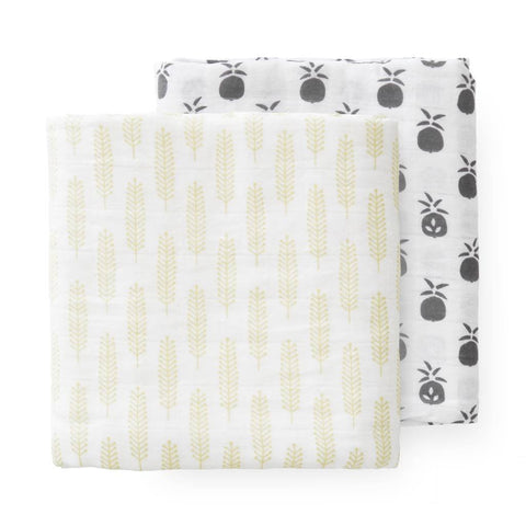 Pineapple Muslin Set - 2 pack