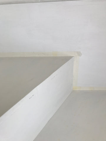 Masking tape before stair paint
