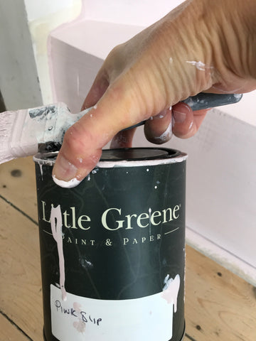 Little Green Pink Slip floor paint