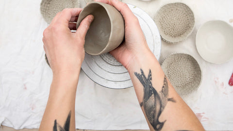 making clay pots