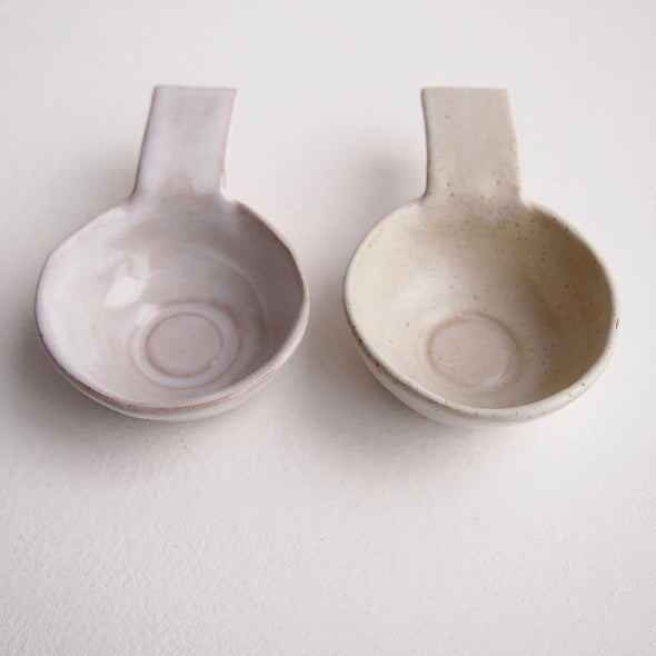 Oatmeal gloss or satin pottery coffee scoops