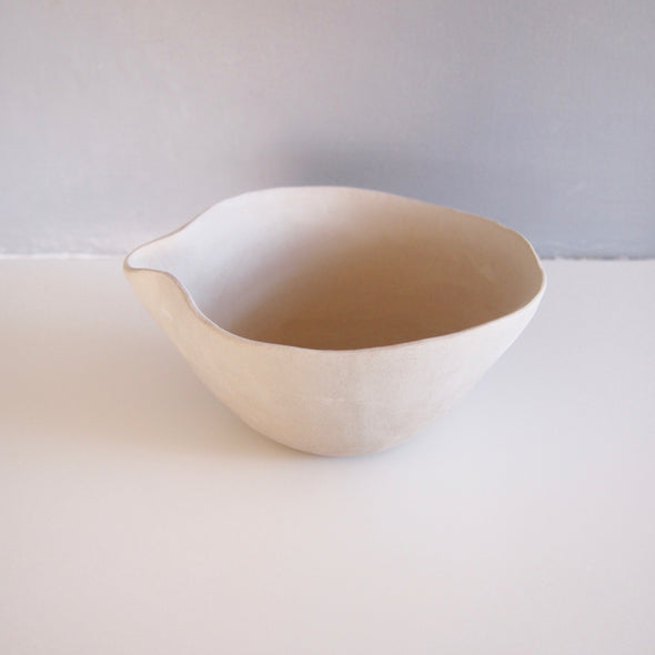Handmade white and blue and white sage smudge bowl for Joanna