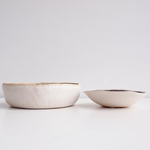 Side of grey soap dishes