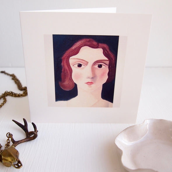 Vintage lady birthday card [Juliet]