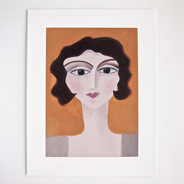 Rose portrait of lady giclee print at Kabinshop .