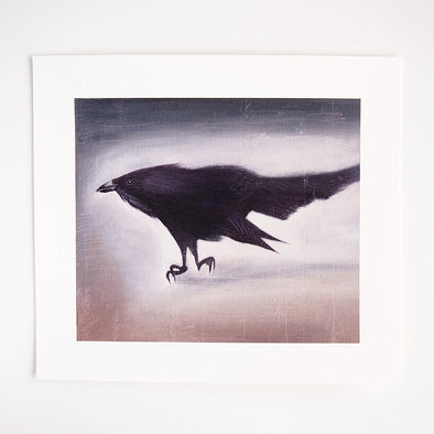 Black crow bird  giclee print at Kabinshop