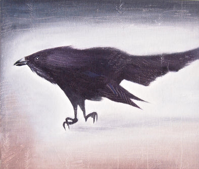 Black crow bird  giclee print at Kabinshop .