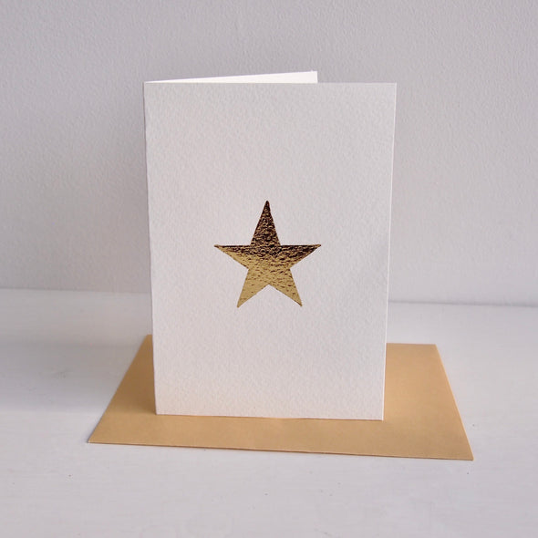Gold leaf star card