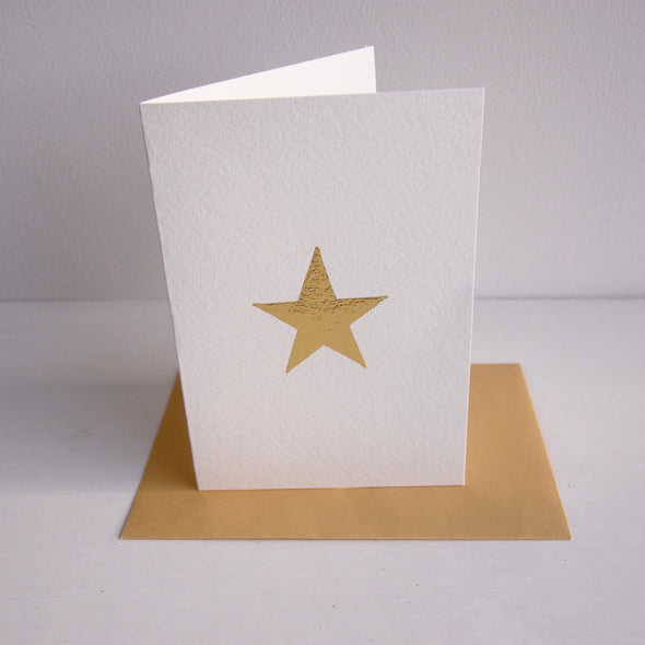 gold leaf star christmas card