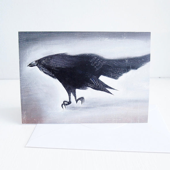 Black bird  birthday card