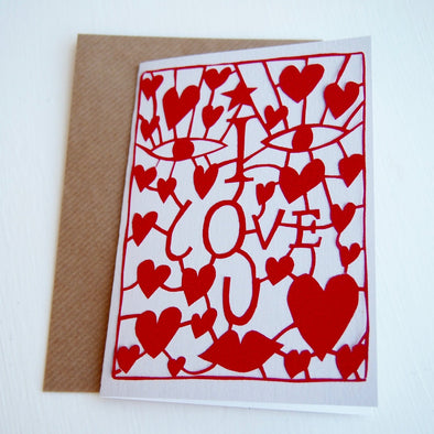 i love you heart greeting card