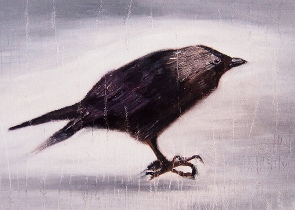 Black bird giclee print