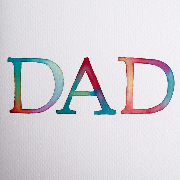 dad card watercolour
