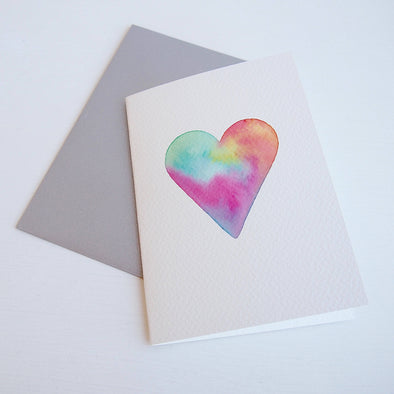 Original pastel heart Valentine's card