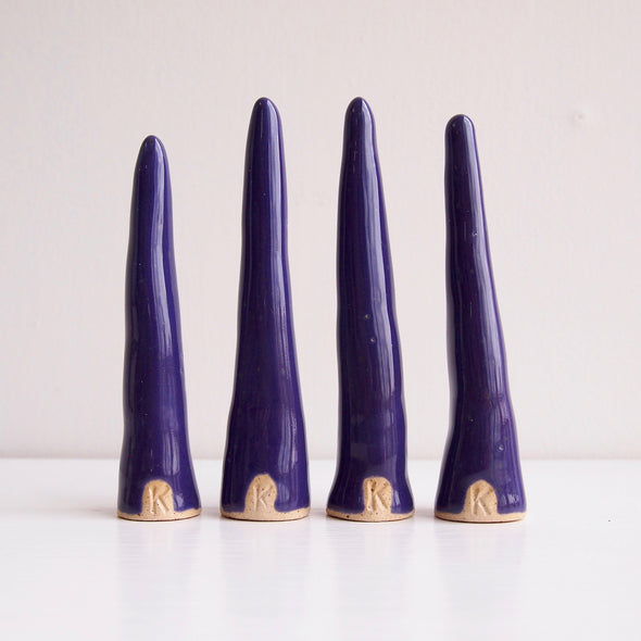 Purple ceramic ring cones